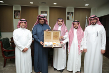 The Rector receives the annual report of the College of Applied Medical Sciences in Wadi Al Dawasir